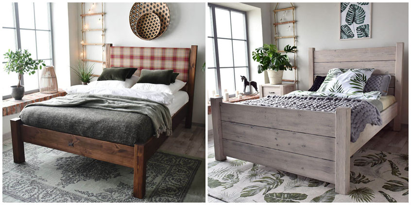 Rustykalne łóżka