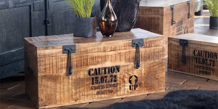 Kufry drewniane