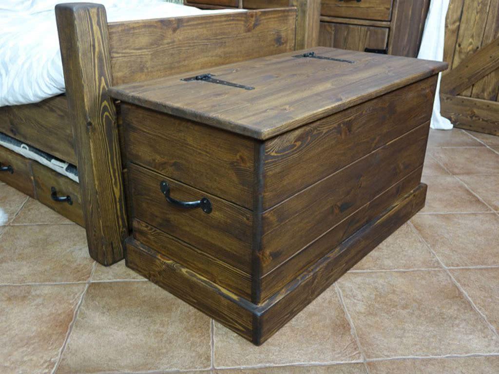 Skrzynia drewniana, rustykalna