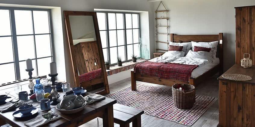 meble drewniane, styl rustykalny