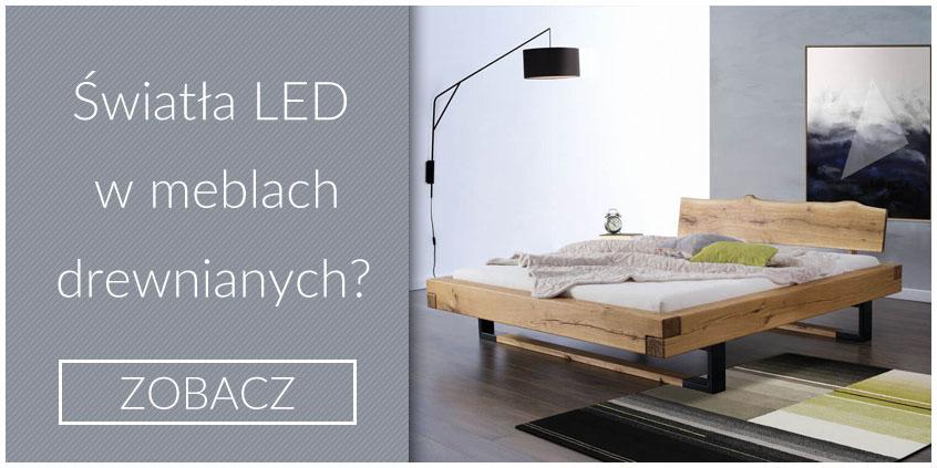 Oświetlenie LED w meblach drewnianych