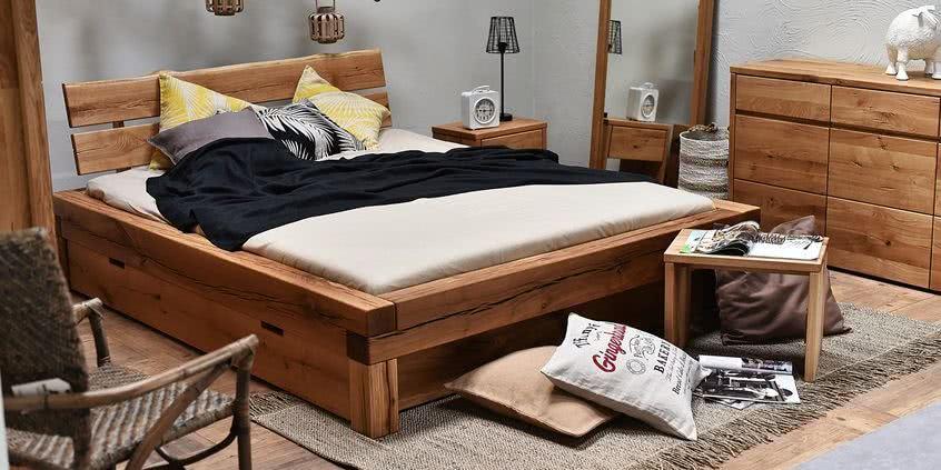 meble drewniane, meble z litego drewna, aranżacja sypialni, meble do sypialni, łóżko, łóżka