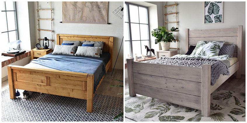 Sypialnia w stylu modern farmhouse