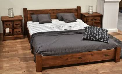 meble drewniane, łóżko