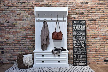 Meble do przedpokoju, garderoby, wieszaki, konsole, lustra, szafki na buty