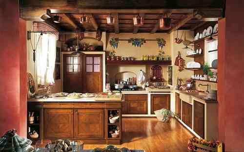 Kuchnia z meblami z drewna
