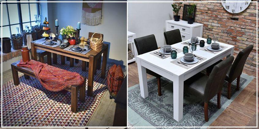 drewniany stół do jadalni
