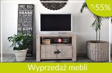 wyprzedaż mebli drewnianych